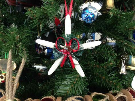 buy white starfish pinecone christmas tree ornament ship