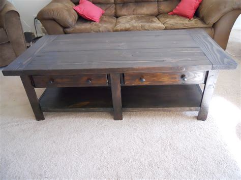 white pottery barn benchwright coffee table build