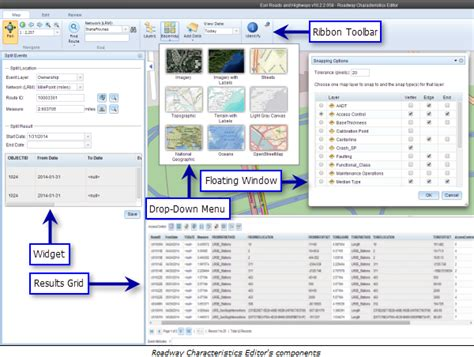 arcgis layout guides overview of the roadway characteristics editor user guide