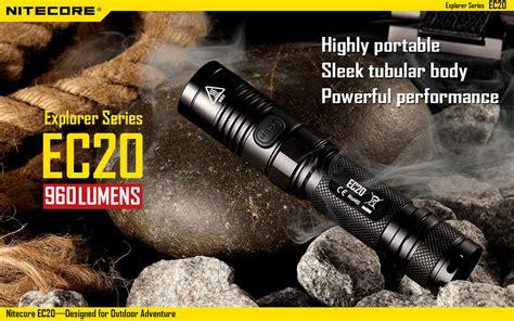 Senter 2 Baterai nitecore ec20 senter led cree xm l2 t6 960 lumens black jakartanotebook