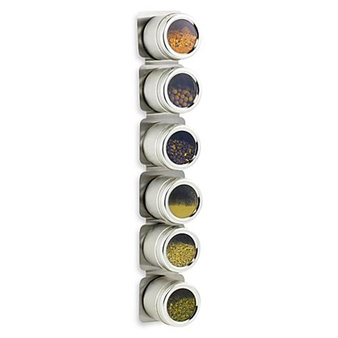 Magnetic Spice Racks kamenstein 174 magnetic 6 jar spice rack www bedbathandbeyond ca