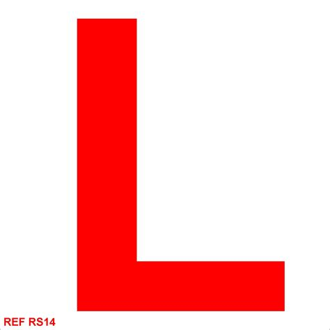Where To Get L by Redfern Labels Learner Driver Sticker