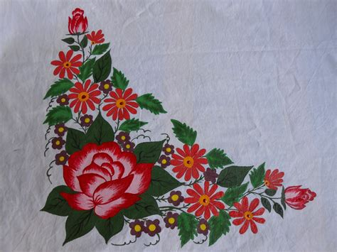 flower design on cloth wahida craft july 2013