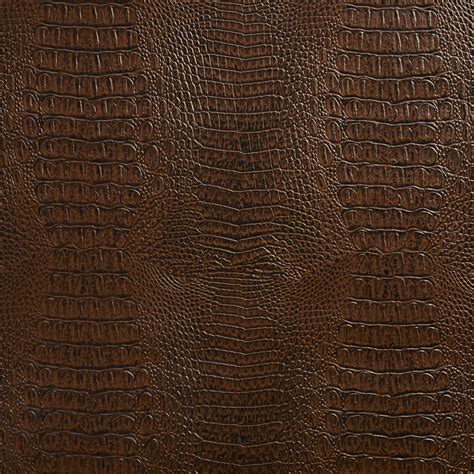 Tan Leather Upholstery Sable Brown Reptile Skin Texture Vinyl Upholstery Fabric