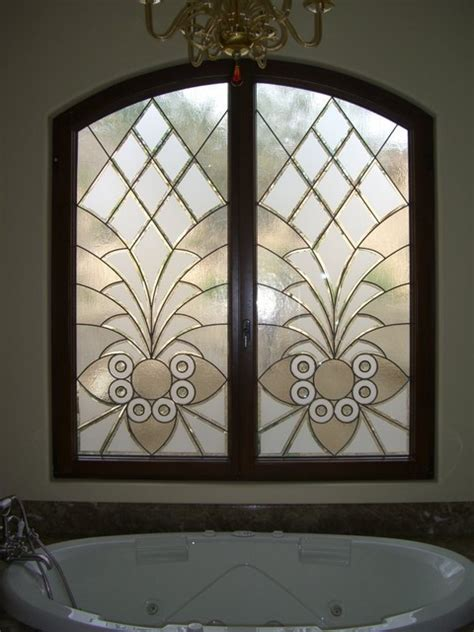 beveled glass bathroom mirrors home design ideas bathroom windows quot arabesque bevels quot leaded beveled glass