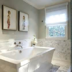Bathroom Half Tiled Half Painted by Half Tiled Bathroom Walls Design Ideas