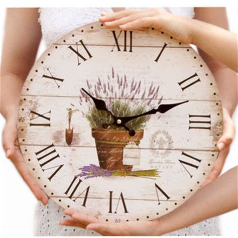 Bloom Blossom Wall Clock Sweet Home wall clock cottage chic lavender from pilipart clocks