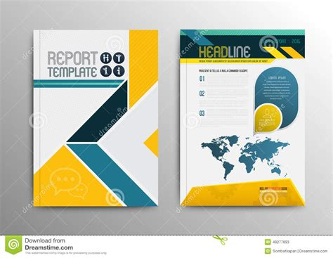 template design vector brochure template design with world map stock