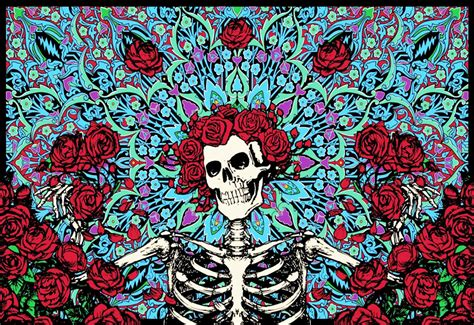 Grateful Dead The Best Of Skeletons From The Closet by Grateful Dead Skeleton Roses Tapestry 60 Quot X 90 Quot