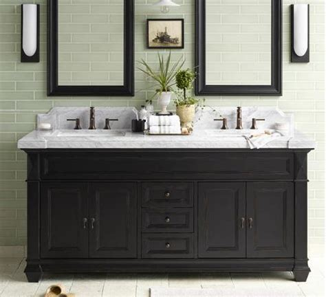 black bathroom vanity casual cottage
