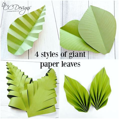 How To Make A Leaf Out Of Paper - best 25 paper leaves ideas on paper plants