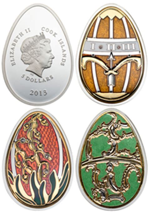 G Ci Silver easter themed coins