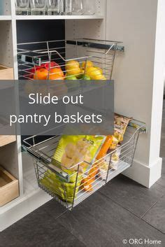Sliding Baskets For Pantry by Pantry Wicker Baskets And Organizations On