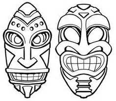 1000  Images About Tiki Hawaien On Pinterest Mask Hawaiian sketch template