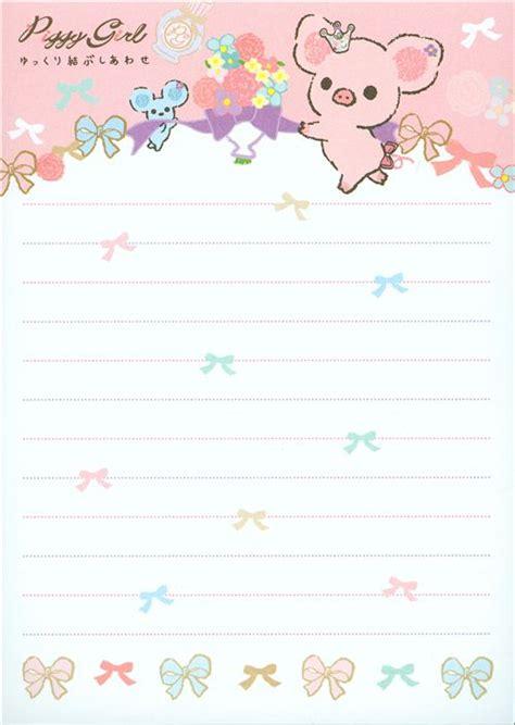 pig writing paper piggy memo pad pig ribbon memo pads
