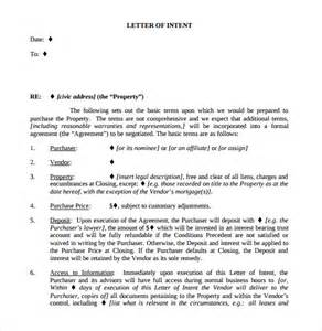 Lease Option Letter Of Intent 10 Real Estate Letter Of Intent Templates Free Sle Exle Format Free