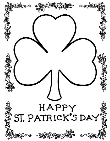 march coloring pages crayola shamrock coloring page crayola com