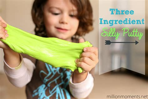 silly crafts for three ingredient silly putty 5 minute kid craft