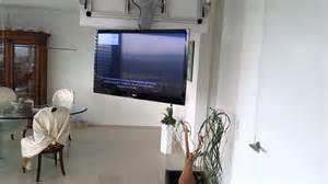 fernseh halterung decke tv aus der decke