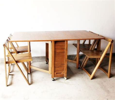Drop Leaf Table And Folding Chairs Modern Drop Table W Folding Chairs By Caughtmyeyecandy 649 00 New Apartment