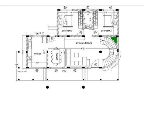 spiral staircase floor plan gap between spiral staircase and wall corner
