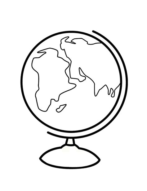 Globe Coloring Pages To Download And Print For Free Globe Coloring Pages