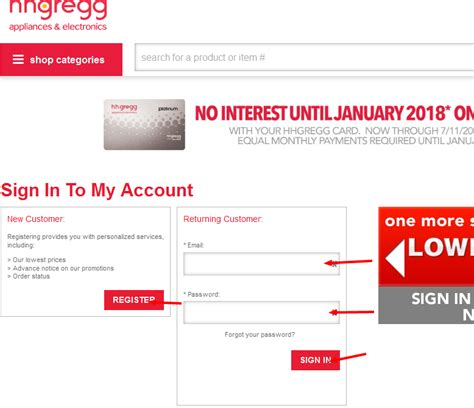 make a payment to store card four easy ways to pay on your hhgregg credit card bill
