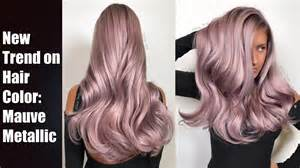 metallic hair color mauve metallic hair color