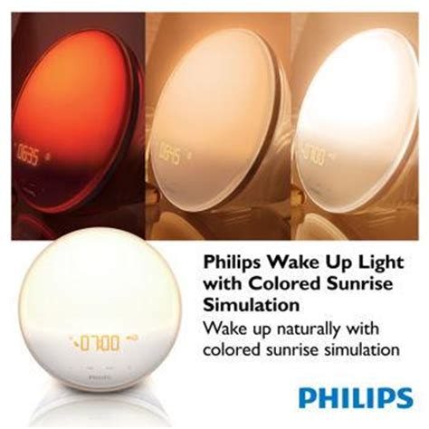 Philips Up Light With Colored Simulation by Philips Up Light With Colored Simulation Alarm Clock Sunset Fading
