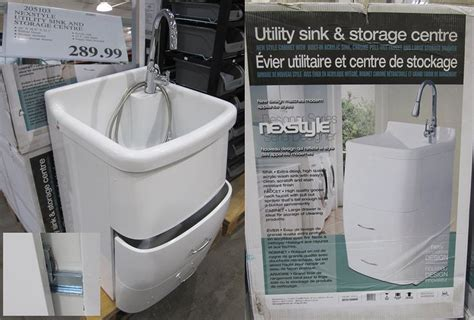 laundry sink cabinet costco costco acrylic utility sink and cabinet 290