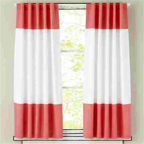 Coral Colored Curtains Coral Color Block Curtains Curtains Drapes