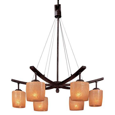 Downlight Chandeliers Minka Lavery Raiden 6 Light Iron Oxide Downlight Chandelier 1186 357 The Home Depot