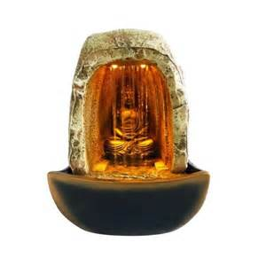 Water Fountains With Lights Indoor Buddha Waterfall Tabletop Water With Led