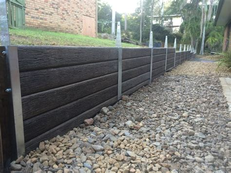 Concrete Sleeper Retaining Wall Design by 17 Best Ideas About Concrete Sleepers On
