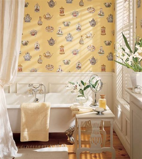 Wallpaper Ideas For Bathrooms by 30 Bathroom Wallpaper Ideas Shelterness