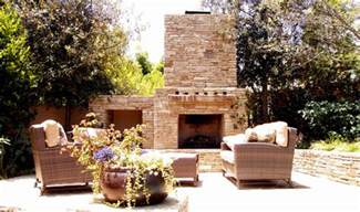 outdoor fireplace decorating ideas