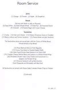 carnival victory room service menu website http