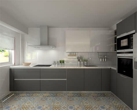 Cocinas En Blanco Y Gris | cocina santos modelo line e gris y line l blanco con