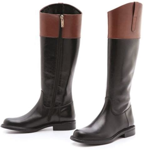 studio pollini two tone boots in brown black lyst
