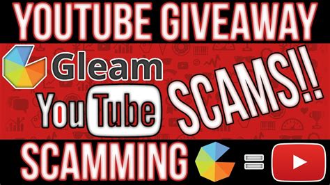 All Gleam Giveaways - quot scam alert quot new youtube scam 2017 giveaway scamming using gleam io gleam