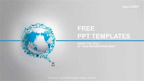 powerpoint template world world globe with app icon business ppt templates