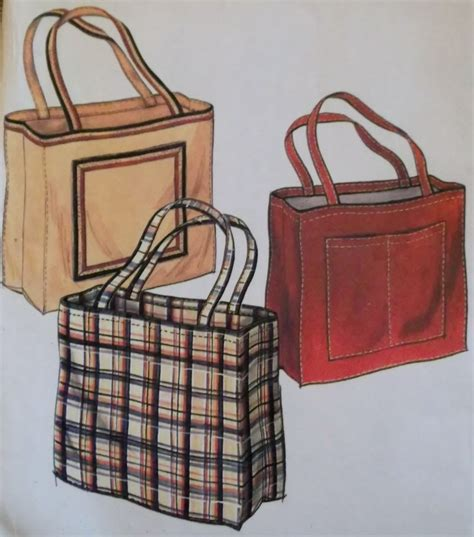tote bag pattern mccalls mccalls sle tote bag pattern uncut