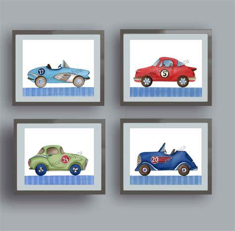 Vintage Race Car Art Race Car Art Prints Race Car Bedroom Car Nursery Decor