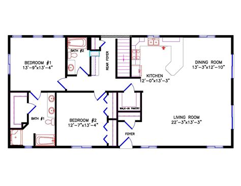 24x40 House Plans Homes Floor Plans 24 X 40