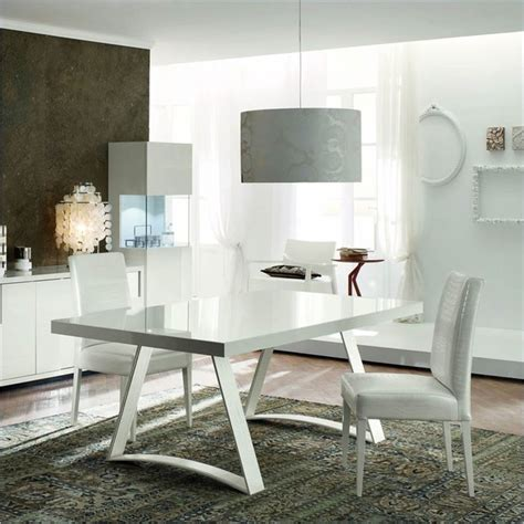 modern white dining table set rossetto nightfly 3 rectangular dining table set in