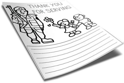 thank you troops coloring page thank you soldier color page children s ministry deals