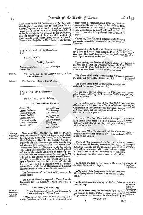 mla letter format house of journal volume 8 27 november 1645 1767