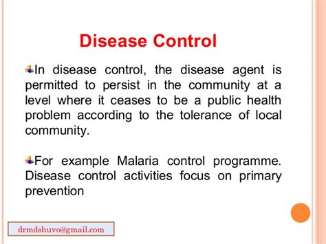 control and eradication disease control priorities in concept of disease prevention and control 1234