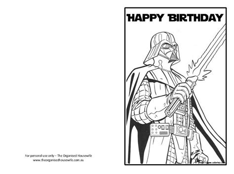 Happy Birthday Star Wars Coloring Pages | star wars happy birthday card coloring pages star wars