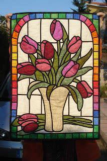 Honeysuckle Stained Glass And Patchwork - patchwork murcia vidrieras patchwork